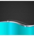 Elegant metallic background vector image