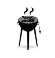 barbecue grill black vector image
