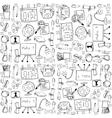 Big doodles school education vector image