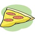 Cartoon pizza vector image