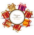 christmas realistic gift card isolated on white vector image