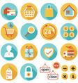 E Commerce Online Shop Shopping Icons Set vector image