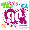 grunge sale poster with colorful splashes vector image