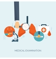 Hand with lungsFlat medical vector image