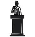 man giving speech vector image