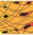 Multicolor orange and black geometric graphic vector image