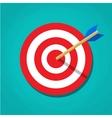 Red white circle darts target vector image