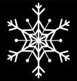 snow flake vector image