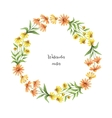 Watercolor round frame of echinacea vector image
