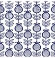 Blue garnet Floral Pattern vector image