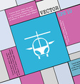 helicopter icon sign Modern flat style for your vector image