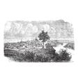 Nashville Tennessee vintage engraved vector image
