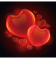 3D glossy hearts vector image vector image