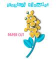 paper cut tropical-03 vector image