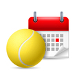 Tennis ball and calendar vector image