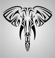 Tribal Elephant Head vector image
