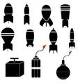 Bomb Icons vector image