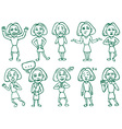emotions and postures vector image