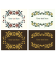 Flower decorative borders set vector