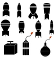 Bomb Icons vector image