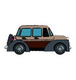 classic car vehicle transport motor vintage style vector image