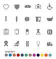 Collection Icons set Medical vector image