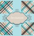 Invitation card retro vector image