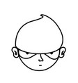 line thief crimical head with mask design vector image