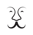 mustache and nose icon vector image