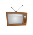 retro tv in the wooden case vector image