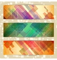 Set of light straight lines abstract pattern cards vector image