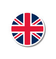 united kingdom rounded flag button with dropped sh vector image