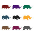 woolly rhinoceros icon in black style isolated on vector image