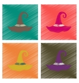assembly flat shading style icons halloween witch vector image