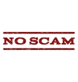 No Scam Watermark Stamp vector image