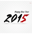Calligraphy 2015 sign vector image