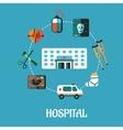 Hospital flat inforgraphic design vector image vector image