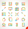 Highlighter Line Icons Set 4 vector image vector image