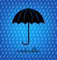 Vintage Black Umbrella vector image