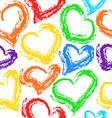 Texture of hearts vector image