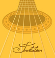 Music invitation with acoustic guitar vector image