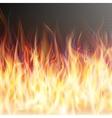 Blaze fire flame EPS 10 vector image