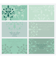 floral business card set vector image vector image