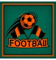 Color vintage and retro logo badge label football vector image