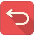 Back icon vector image