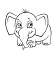 elephant with banana vector image