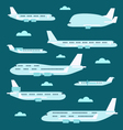 Flat design of airplane set vector image