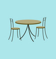 icon in flat design chairs and table vector image