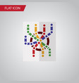 isolated subway map flat icon router vector image