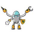 Knight robot vector image